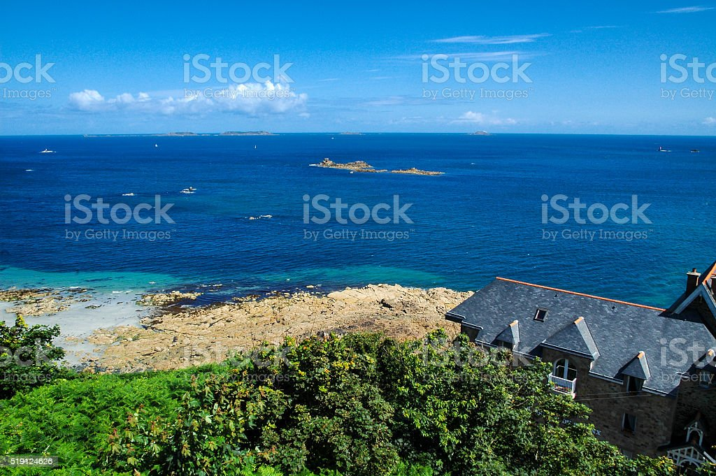 Perros-Guirec (Brittany, France): coast stock photo