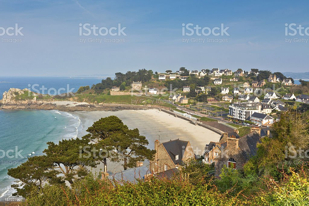 Perros-Guirec, small town in Western Brittany, France stock photo
