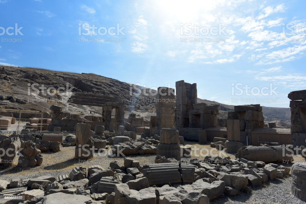 Persapolis, the centre of the great Persian Empire. stock photo