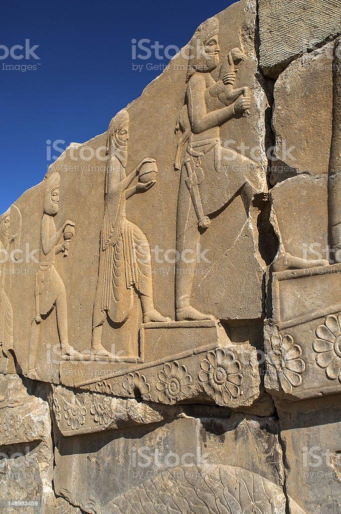 IRAN  Persepolis Apadana Palace stock photo