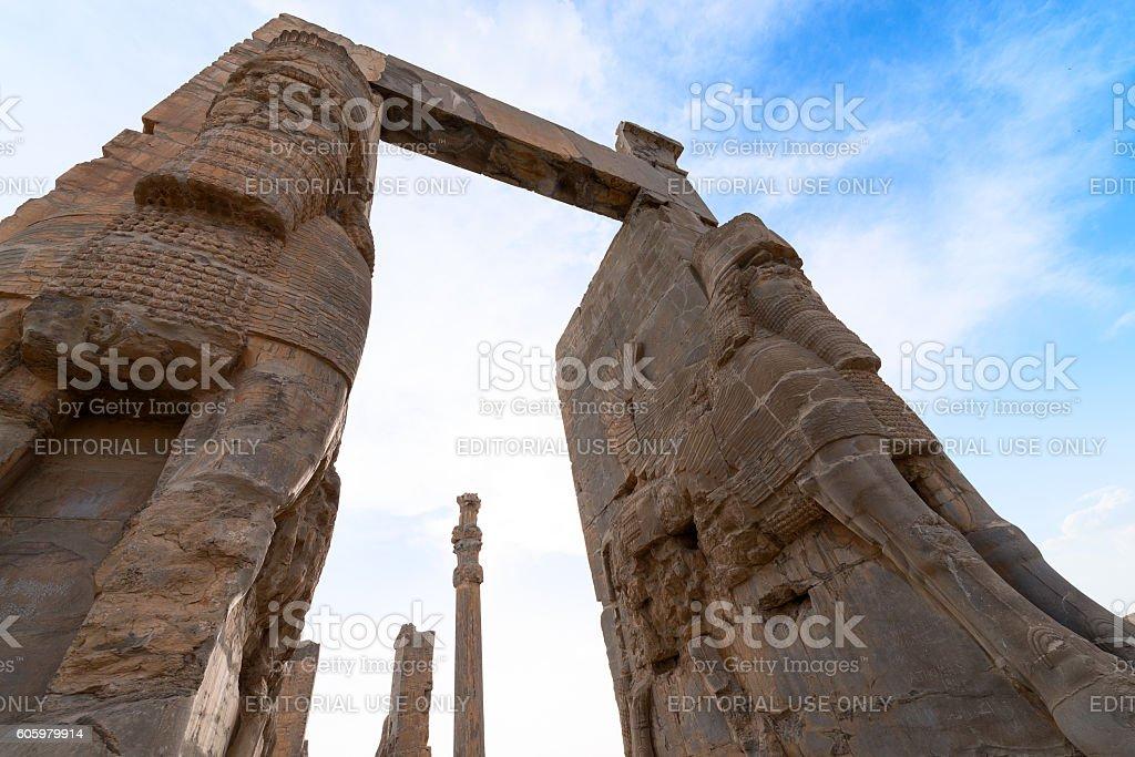 Persepolis in northern Shiraz, Iran. stock photo