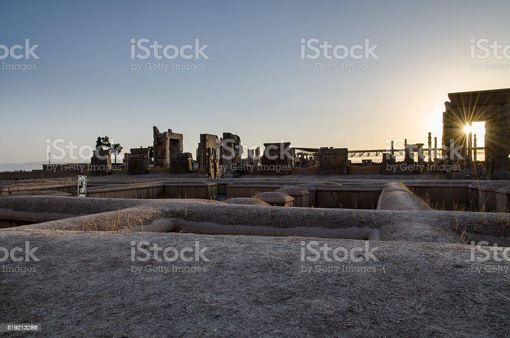 Persepolis in the sunset, Iran stock photo