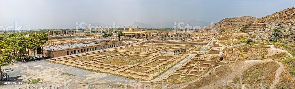Persepolis panorama stock photo