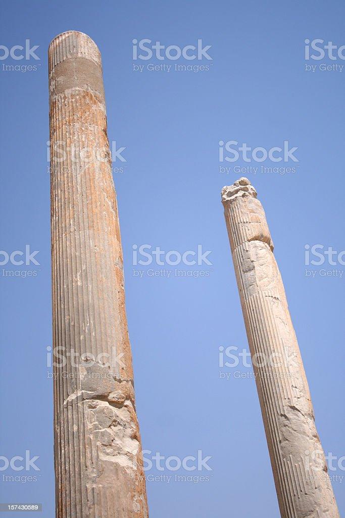 Persepolis Pilars Unesco site Iran stock photo