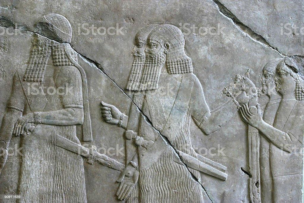 Persepolis relief stock photo
