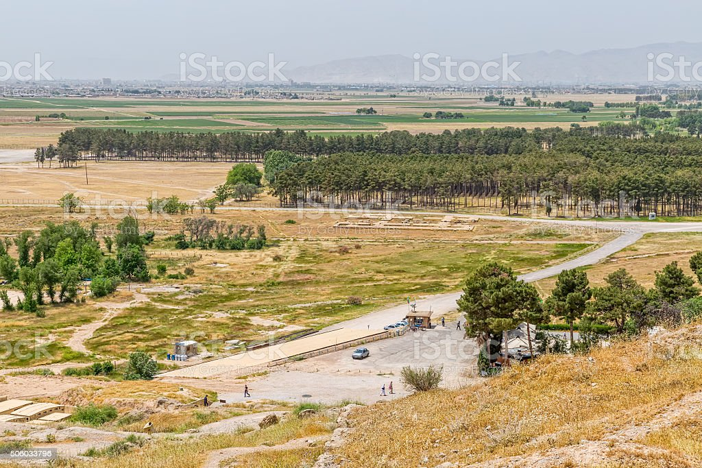 Persepolis view from hill stock photo
