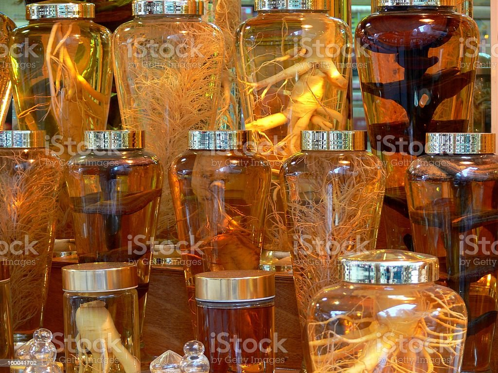 Perserved Ginseng royalty-free stock photo