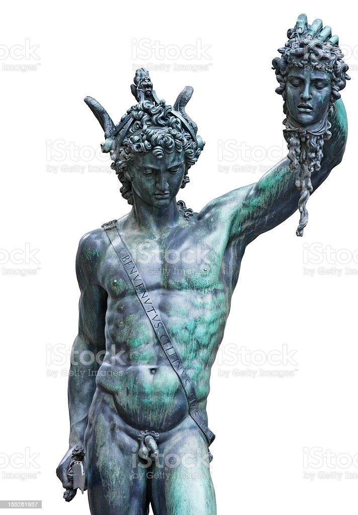 Perseus and Medusa Gorgon royalty-free stock photo