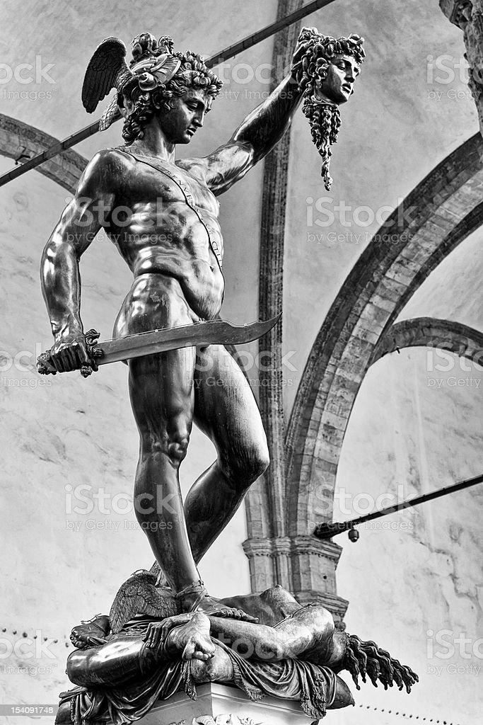 Perseus and Medusa stock photo