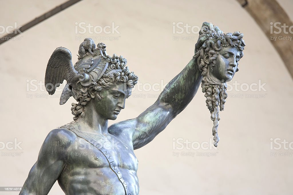 Perseus and Medusa stock photo