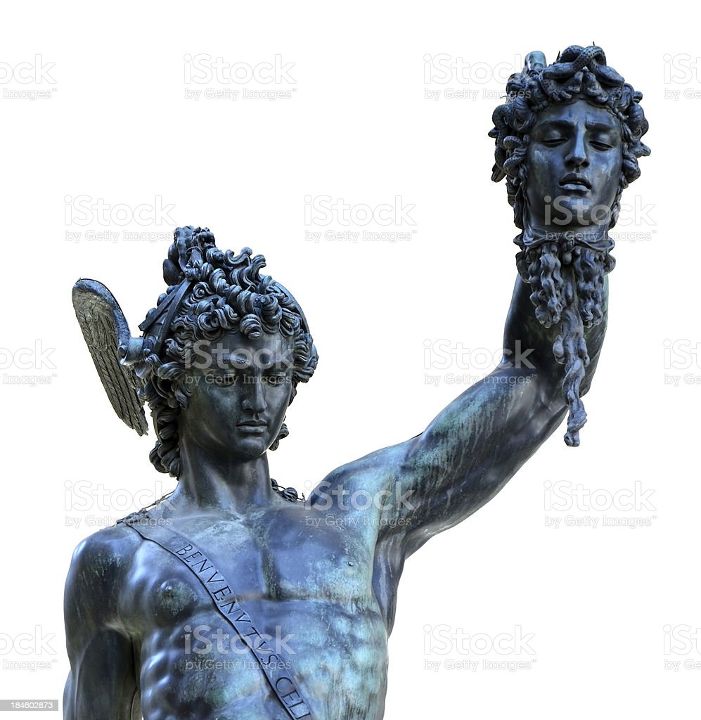 Perseus and Medusa royalty-free stock photo