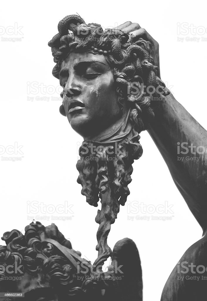 Perseus and the Head of Medusa, in Florence stock photo