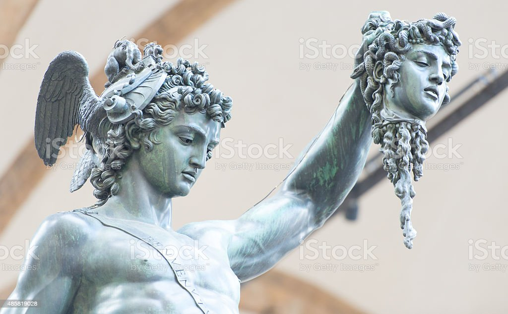 Perseus by Benvenuto Cellini  - Florence, Italy stock photo
