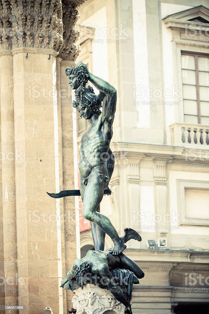 Perseus with the Head of Medusa royalty-free stock photo