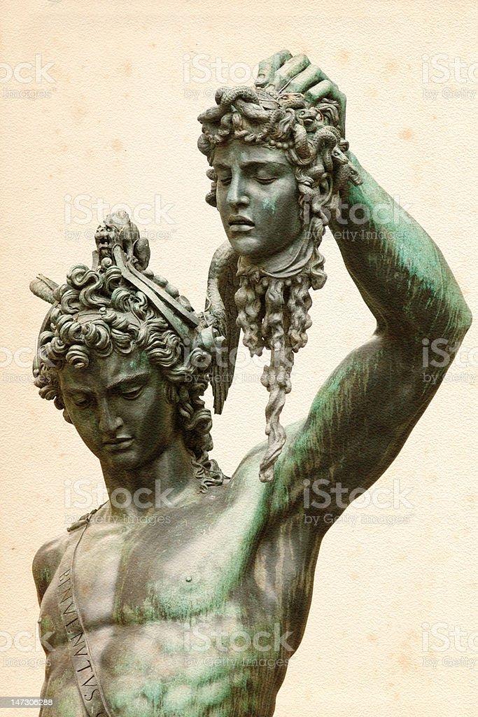 Perseus with the Medusa Gorgon stock photo