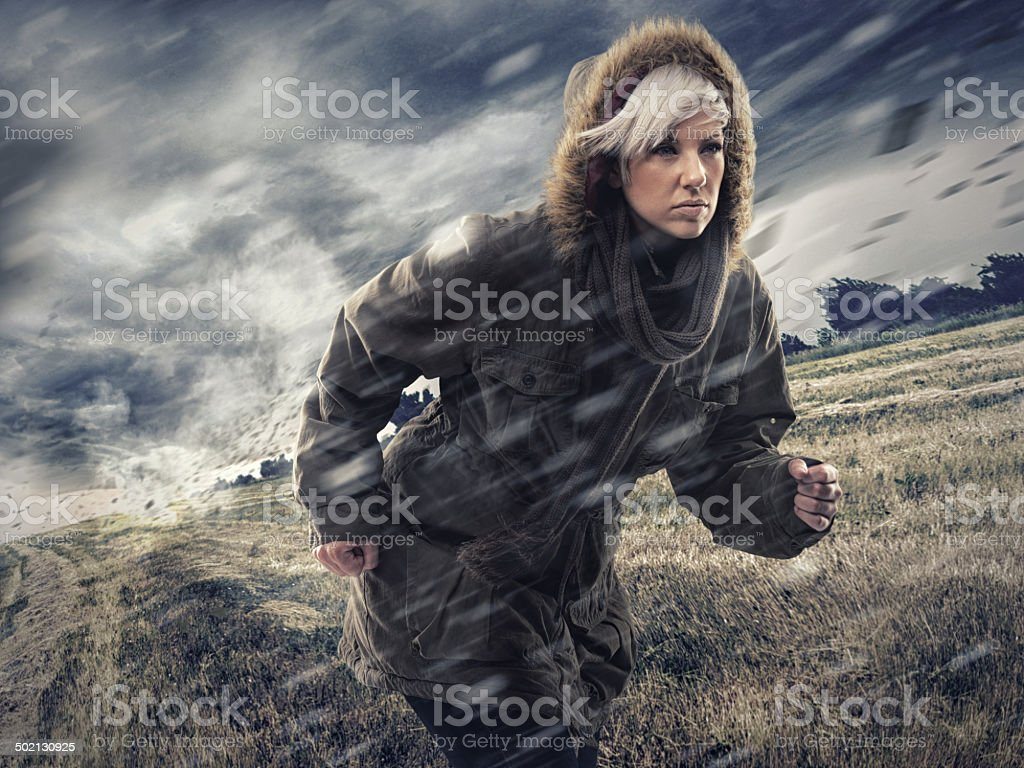 Perseverance and determination always pays off stock photo