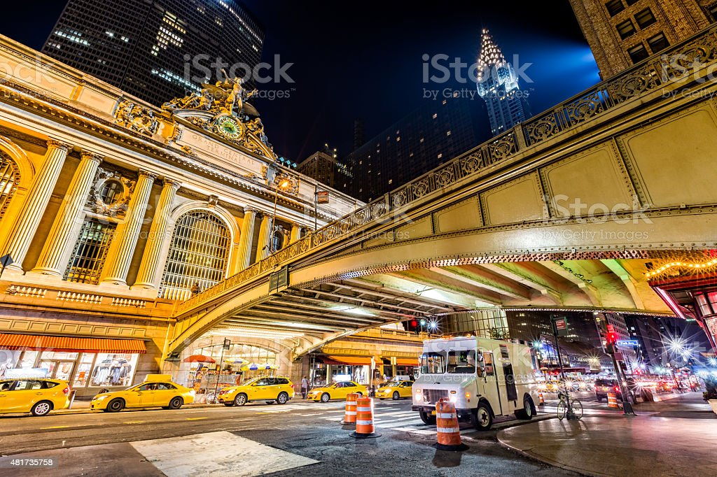 Pershing Square, in Manhattan, New York City stock photo