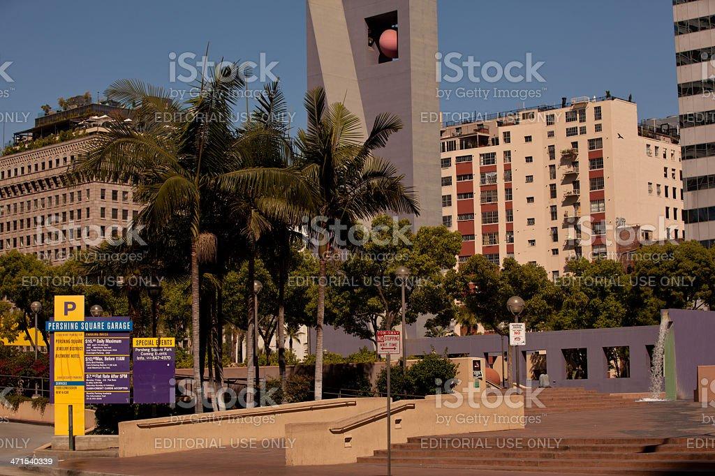 Pershing Square stock photo