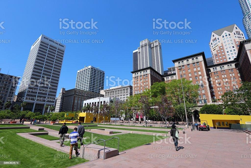 Pershing Square, LA stock photo
