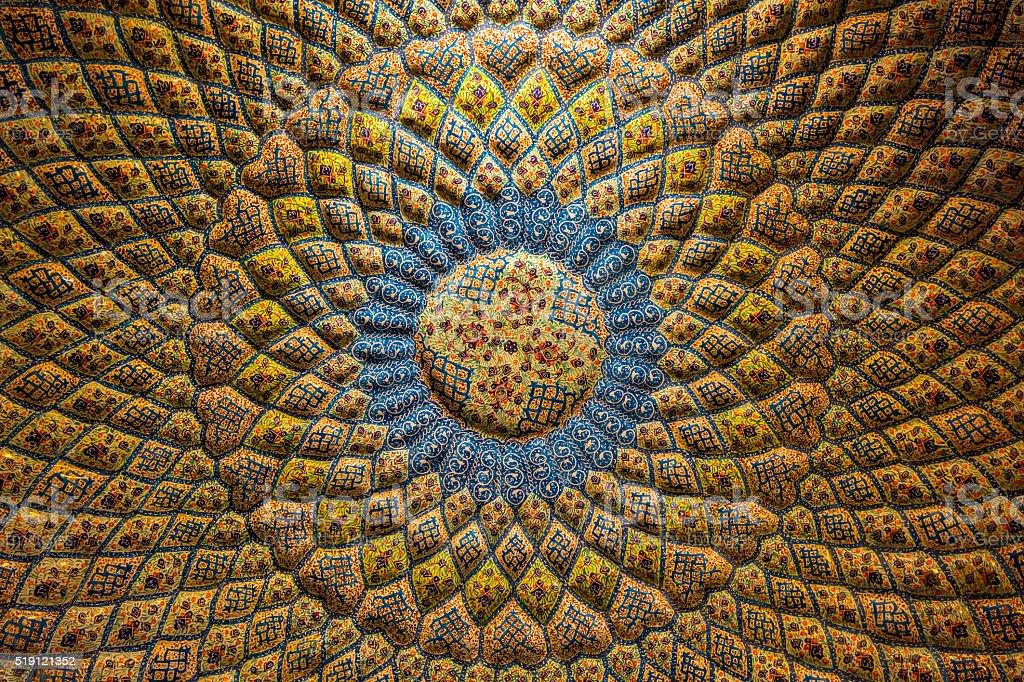 Persian architecture and decoration art, Iran stock photo