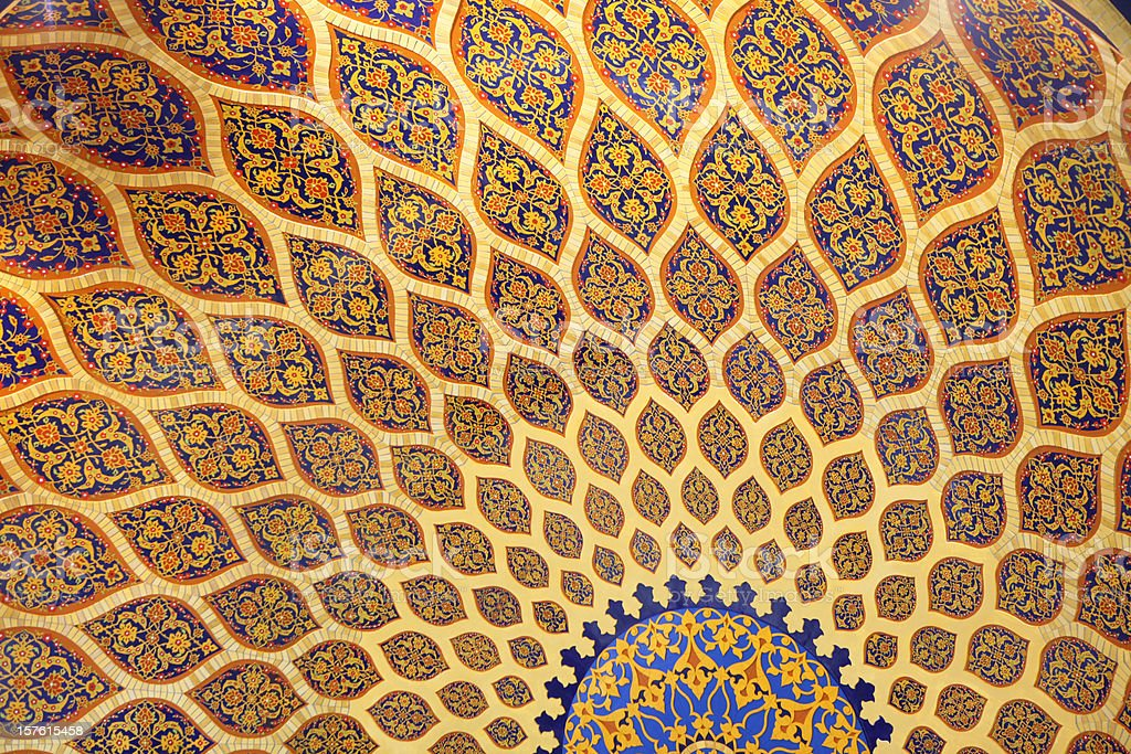 persian architecture art stock photo