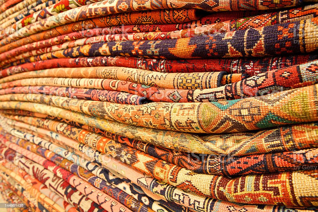 Persian carpets stock photo