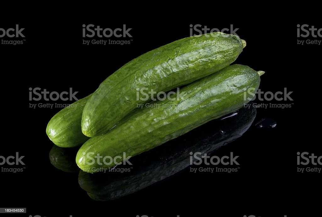 Persian cucumbes. royalty-free stock photo