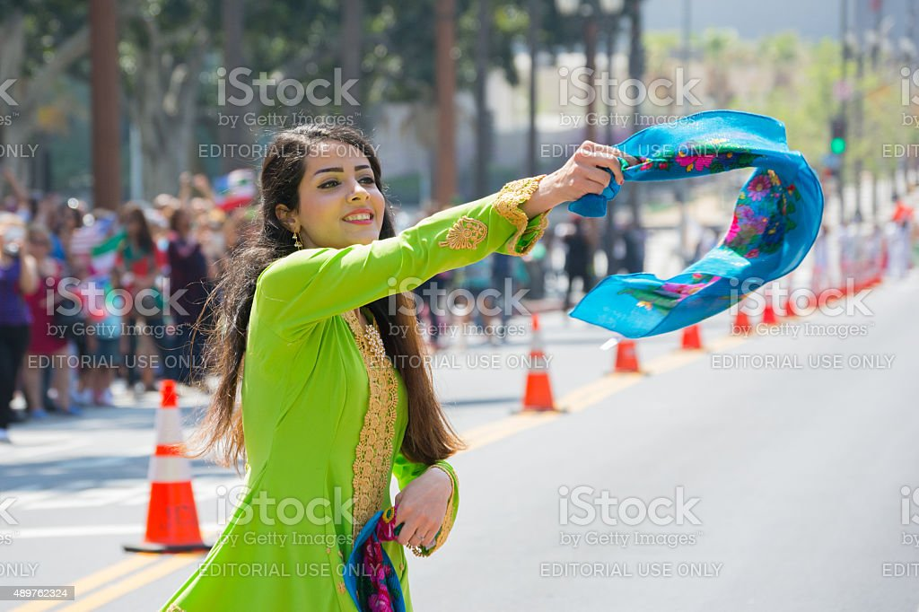 Persian dancer stock photo