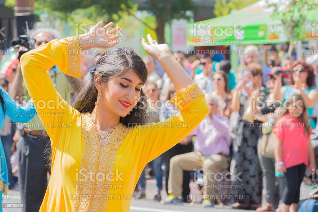 Persian dancer stock photo