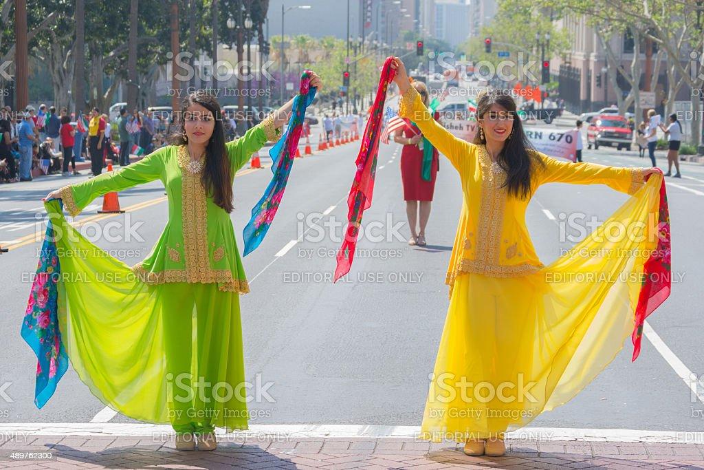 Persian dancers stock photo