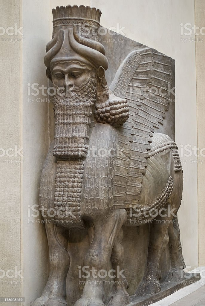 Persian deities stock photo