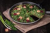Persian Mixed herbs frittata Kuku