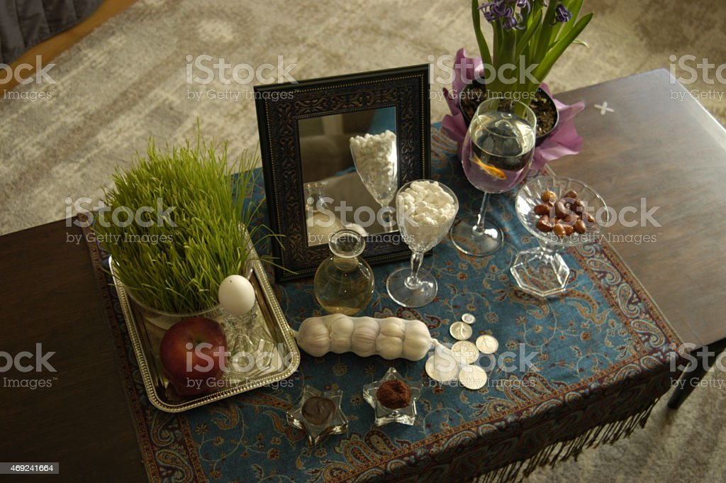 Persian New Year Spread stock photo
