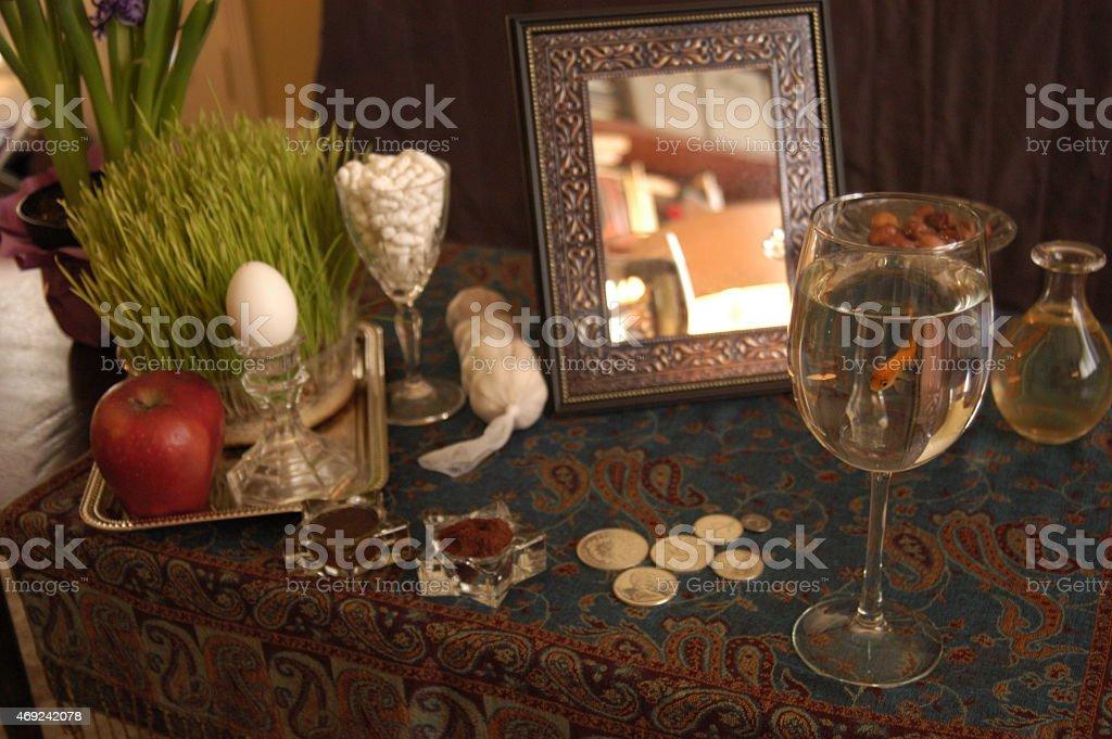 Persian New Year Spread stock photo