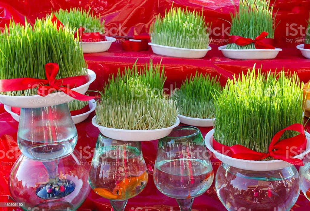 Persian New Year Spread - Stock Image stock photo