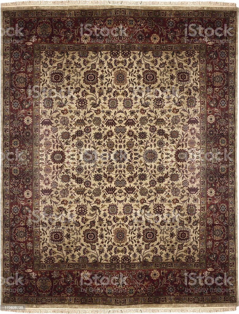 Persian Oriental Rug royalty-free stock photo