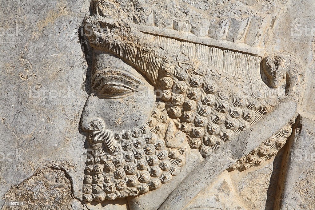 Persian soldier from Persepolis, Iran royalty-free stock photo