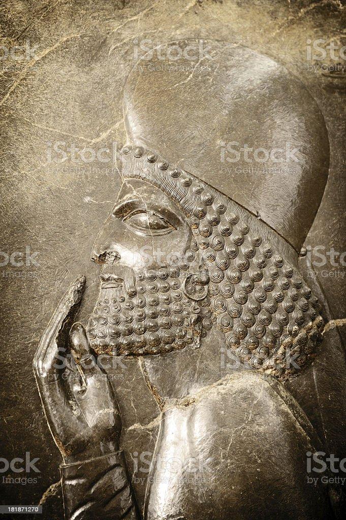 Persian Soldier from Persepolis, Iran stock photo