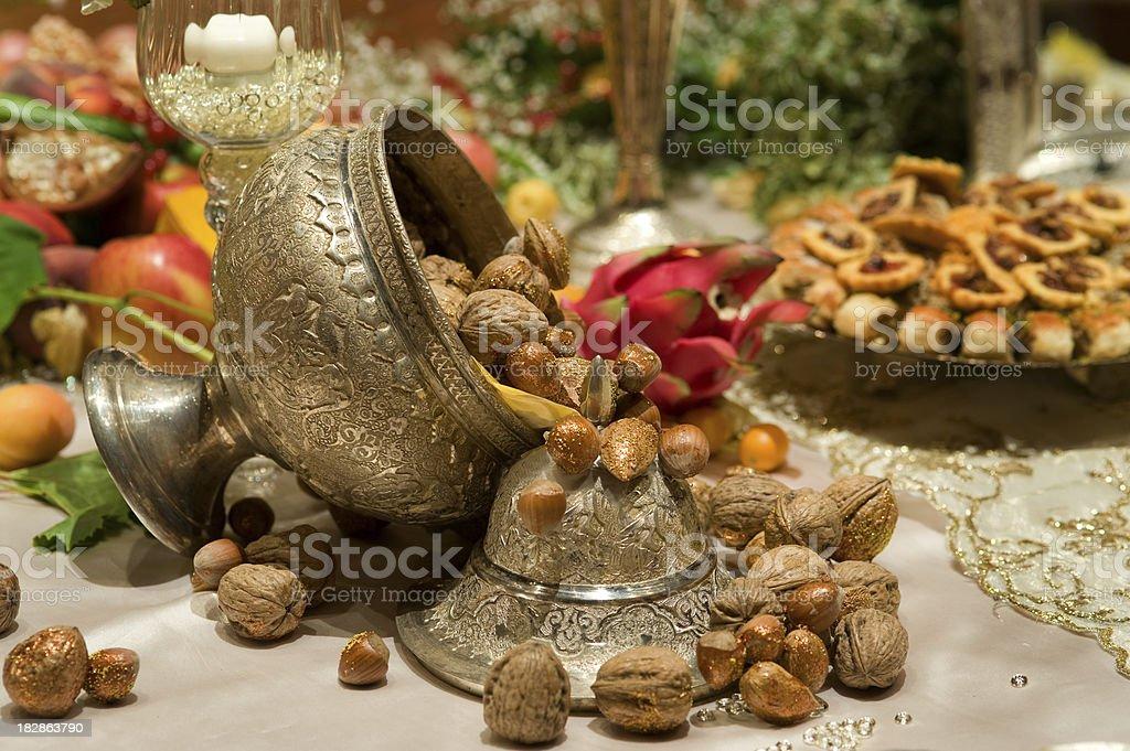 Persiano Decorazione per la tavola foto stock royalty-free