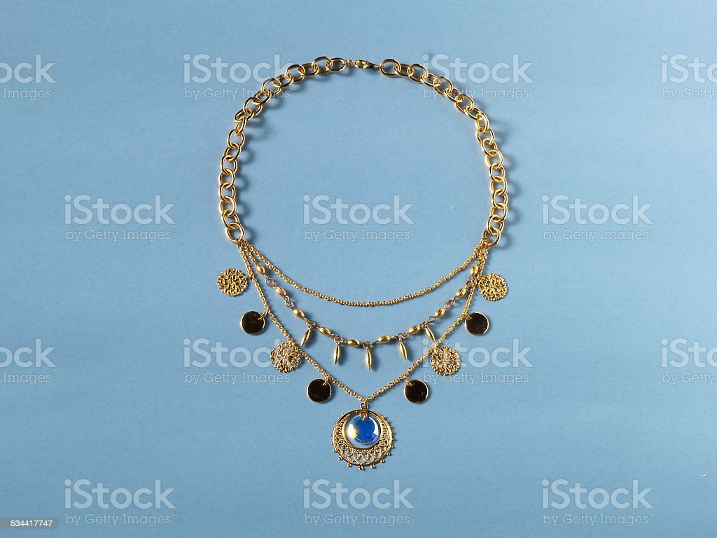 Persian-style necklace stock photo