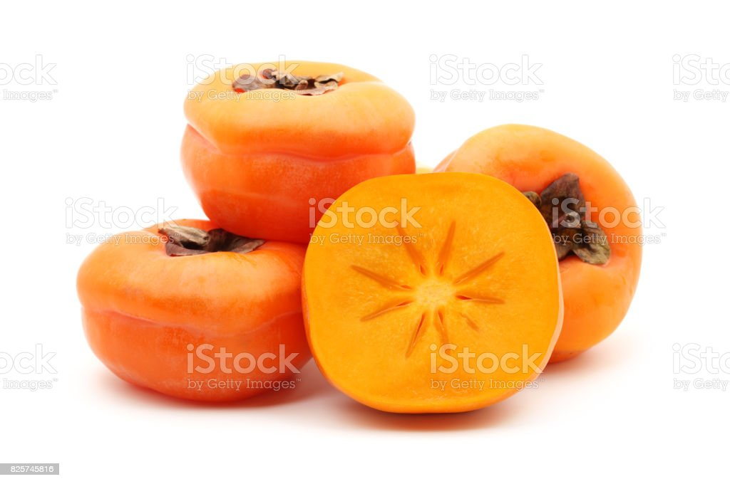 Persimmon  isolated on white background stock photo