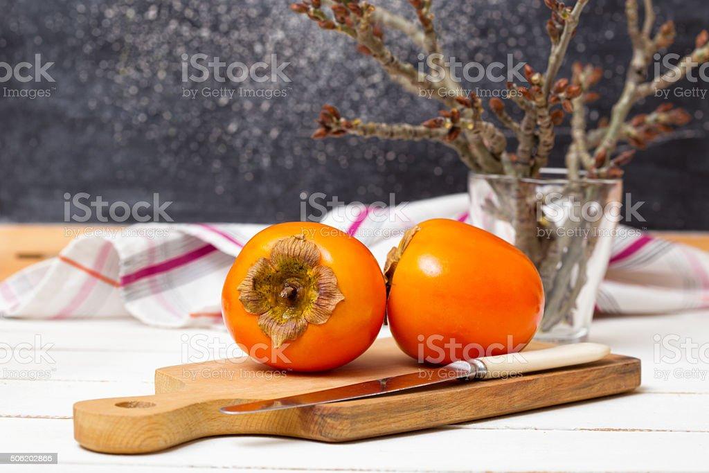 persimmon stock photo