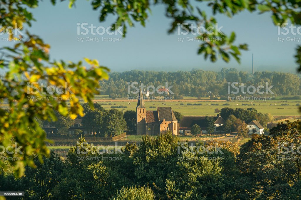 Persingen: the smallest village of tThe Netherlands stock photo
