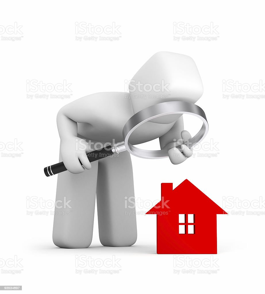 Person and house icon stock photo