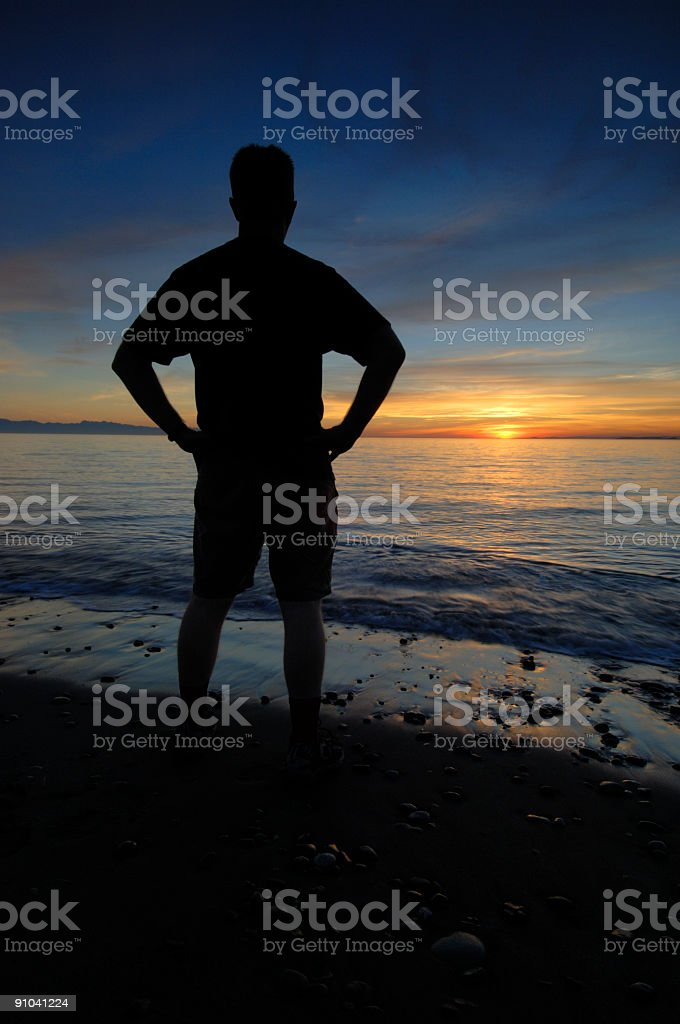 Person and Sunset 01 royalty-free stock photo