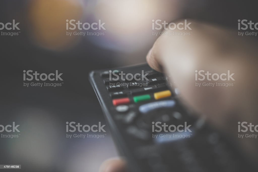 Person Changing the Channel stock photo