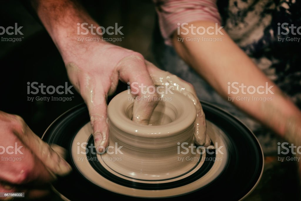 Person Creation Pottery stock photo