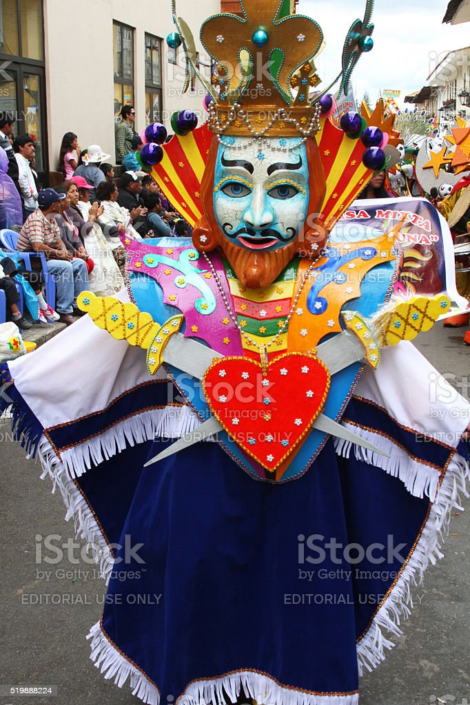 Person Dressed as King of Hearts in Parade stock photo