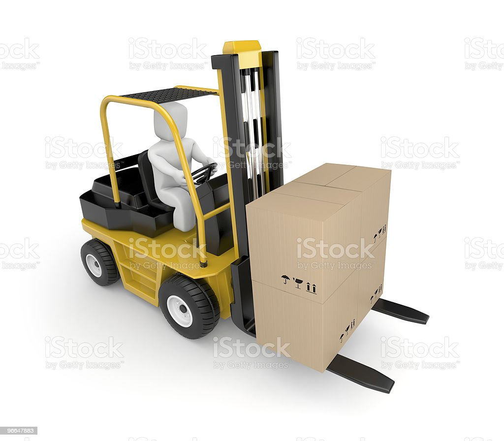 Person drive a Forklift royalty-free stock photo