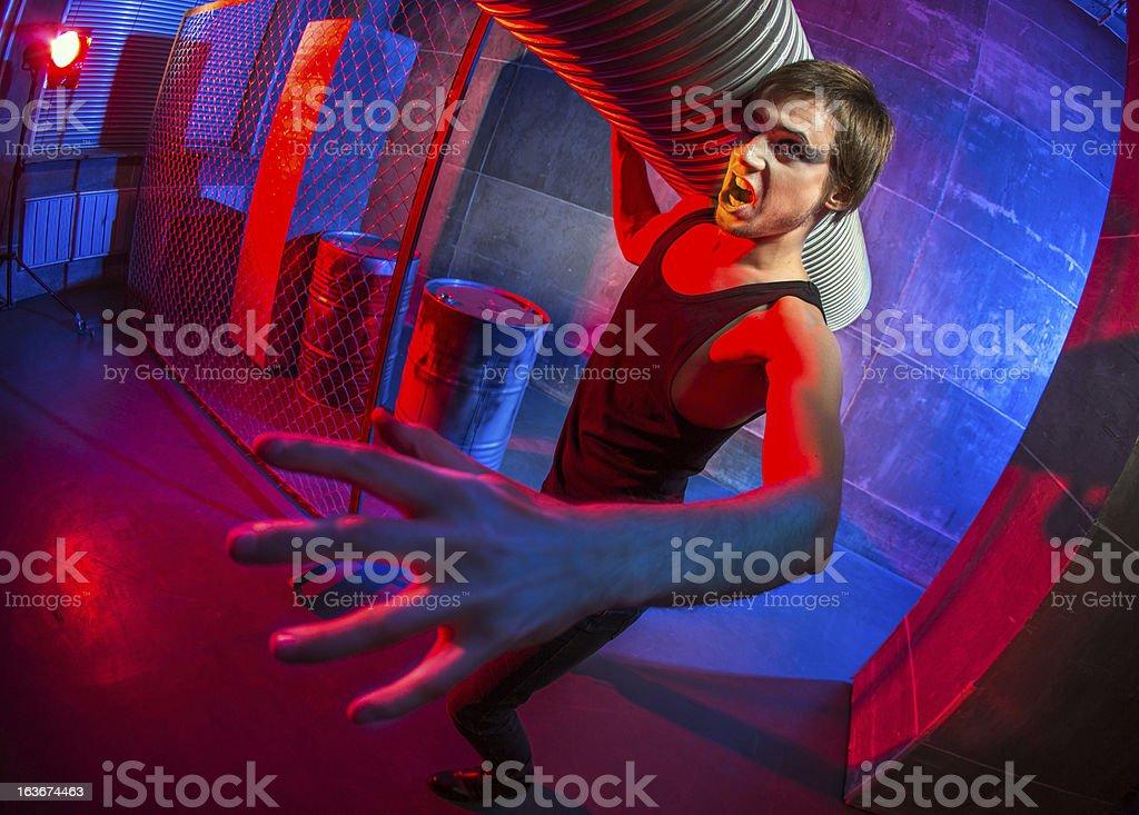 Person from dystopian future stock photo